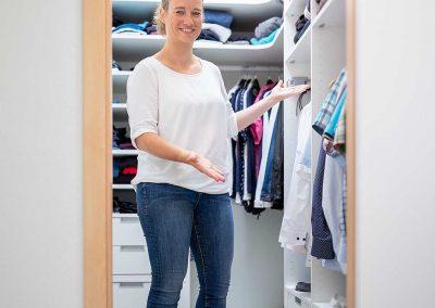 Umbau Zimmer in einen begehbaren Kleiderschrank