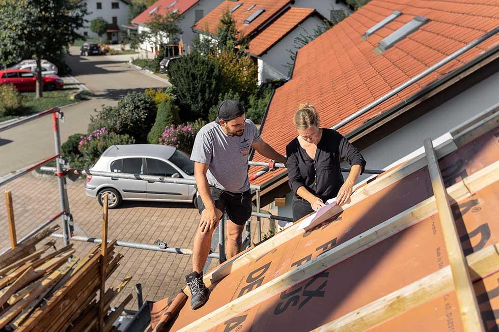 Silke Fuchs Architektin auf dem Dach